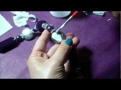 tutorial Collana con ciondolo decoupage e perline - YouTube