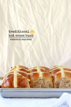 Easy Easter Hot Cross Buns Recipe | Foodness Gracious