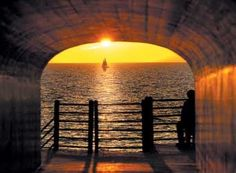 Tunnel Park. Holland Michigan  Come for the beautiful sunset.