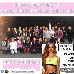 #Repost @thecleaneatingguide with @repostapp.  1/2 the spaces gone - 1/2 left guys!   HIIT BOOTCAMP  Hey guys! So as so many of you said you had an amazing time at my last @proteinhausuk @teamleanuk HIIT BOOTCAMP and wanted me to host another one very soon... So Ive arranged to host another workout THIS Sunday at Canary Wharf!  Bring a friend boyfriend family member or just bring yourself this weekend for a super fun fat blasting HIIT workout! Tickets will be 10 (you can pay on the day)…