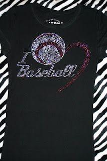 Softball instead of baseball for mom shirt.  Oh how I love bling!