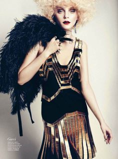 Jessica Stam in Gucci By Txema Yeste For Harper's Bazaar Spain March 2012