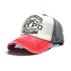 6 Colors Fitted Trucker Hip Hop Baseball Hat Nypd Letter Casquette Hole Caps  Unisex Gorras 1726d291b85f