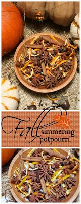 FALL IS IN THE AIR~ MAKING HARVEST SIMMERING POTPOURRI STONE GABLE