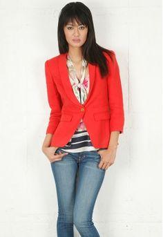 shawl collar blazer / smythe