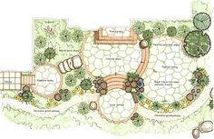 Landscape Masterplan Circle 67 New Ideas Landscape Sketch, Garden Design Plans, Modern Landscape Design, Landscape Plans, Garden Landscape Design, Modern Landscaping, Backyard Landscaping, Backyard Patio, Landscaping Design