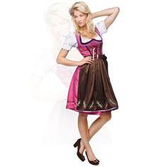 Stockerpoint Mididirndl 3tlg. Noa fuchsia 60 cm, Größe 42  Mididirndl Noa fuchsia - Dieses Dirndl fällt eher schmal aus.Mididirndl 3tlg. Noa fuchsia 60 cm. Dieses Midi-Dirndl ist ein echter Hingucker, um den Sie so manche Frau beneiden wird! Denn die Farbkombination des fuchsiafarbenen Kleides mit der braunen Schürze ist einfach umwerfend! Der Designer hat hier etwas gewagt und auf ganzer Linie gewonnen! Denn so gelungen wie bei diesem Midi-Dirndl-Set ist die Mischung aus der zeitlosen…