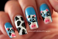 Cow Nail Art Tutorial