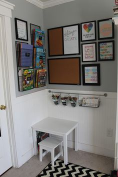 Give your kids a fun Arts Corner for their crafts or homework!