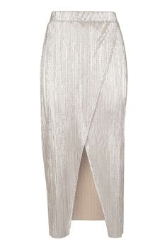 Plisse Wrap Midi Skirt - New In This Week - New In - Topshop USA