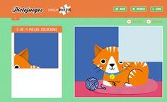 SOFTWARE - Pictojuegos: Peque Puzzle.  Pensado para los más peques, en el cual a través de puzzles de animales se trabaja la memoria visual. Dispone de distintos grados de dificultad, varias opciones y una guía fácil de cada puzzle para facilitar su realización.Al acabar el puzzle correctamente, los peques ven como se reproduce la secuencia de texto de la imagen que han creado.  http://www.pictojuegos.com/puzzle/