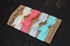 Pale and Sweet Set of 4 Hair Ties Ponytail Holders by MillionAyres