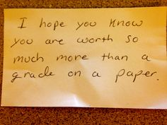 An awesome parent note given to one of my students for MCAS today. #ECET2