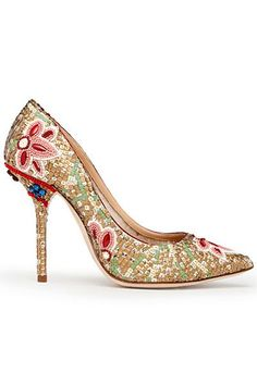 Indian Wedding Mosaic Inspired Dolce & Gabbana Shoes via IndianWeddingSite. Dolce & Gabbana, Jimmy Choo, Women's Shoes, Me Too Shoes, Shoe Boots, Christian Louboutin, Pretty Shoes, Beautiful Shoes, Beautiful Life