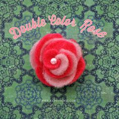 + Made with love by Agus Y.: DIY: Double Color Felt Rose