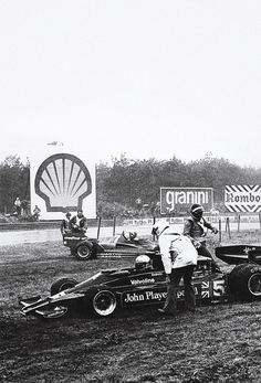 Zolder 1977 - Andretti (Lotus) ran into the back of Watson (brabham) - a wet first half of the race but I stayed happy with Belgium beer & chips & mayonnaise !