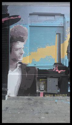 Mural homenaje a Gustavo Cerati en la Ciudad de La Plata, Argentina.