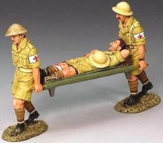 World War II British Army EA028 Stretcher Party - Made by King and Country Military Miniatures and Models. Factory made, hand assembled, painted and boxed in a padded decorative box. Excellent gift for the enthusiast.