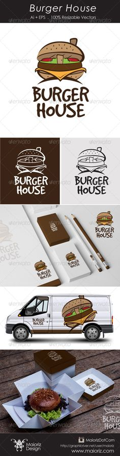 Burger House Logotype  #GraphicRiver                                File Description