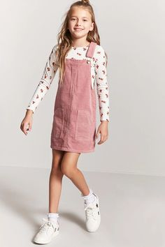 Product Name:Girls Corduroy Overall Dress (Kids), Category:GIRLS_Dresses, Price:17.9