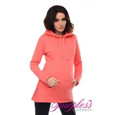 2in1 Maternity & Nursing Warm Hoodie Pregnancy 9050 Coral Maintain your pre-bump style throughout your pregnancy and breastfeeding with our 2in1 maternity and nursing hoodie. This warm, long sleeved 2in1 hoodie has been designed by Purpless to give you comfort and style during your pregnancy and whilst breastfeeding without spending too much on your pregnancy and post pregnancy wardrobe.