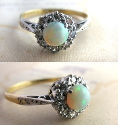 Vintage ring, white gold setting and a gorgeous pearl centre
