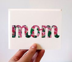 Mother's Day Card  Mom  Pink Tulips by RowHouse14 on Etsy