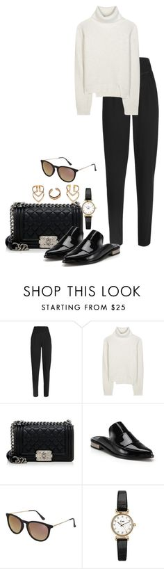 """""""Untitled #1256"""" by hernandezjenni ❤ liked on Polyvore featuring Outsider, Proenza Schouler, Chanel, TIBI, Topshop and Boohoo"""
