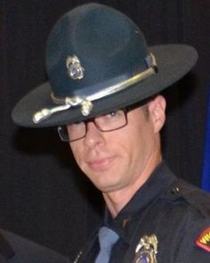 Trooper Anthony Borostowski was killed in a single vehicle crash at mile marker 89 on near Wisconsin Dells. Real Life Heros, Police Officer Shot, Fallen Officer, National Police, Vietnam Vets, All Hero, Fallen Heroes, Military Personnel, State Police