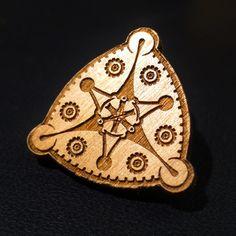 A Sirius Mandala - Wooden Hat Pin