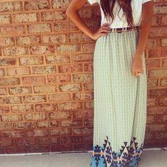 High waisted maxi skirt, soel boutique