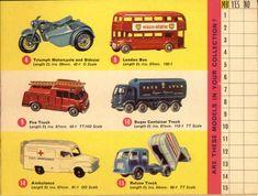 Matchbox Lesney 1965 catalog regular wheels 1-75 series numbers 4-15