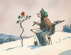 Winter painting - Sir Quentin Blake