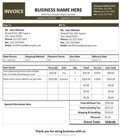 Bmw Invoice Pdf Generic Invoices Printable  Invoice  Pinterest Trust Receipt Pdf with Westjet Eticket Receipt Free Sales Invoice Template For Excel Invoic Excel