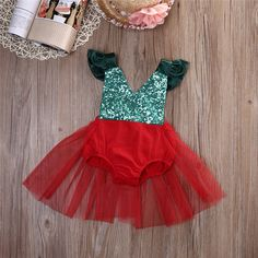 10% off Now  Baby  Toddler Girls Xmas Sequins Red by KidsDressClub