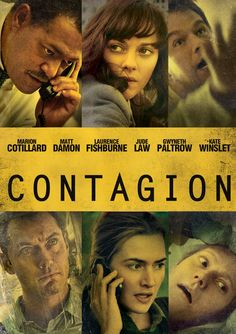 """""""Contagion"""" is terrifyingly plausible with a fantastic script and staggeringly talented cast including Matt Damon, Gwyneth Paltrow, Jude Law, Kate Winslet, Lawrence Fishburne, Eliot Gould and Marion Cotillard. A starkly effective ensemble drama which could well do for the sniffles what Jaws did for Great Whites.  10/10"""