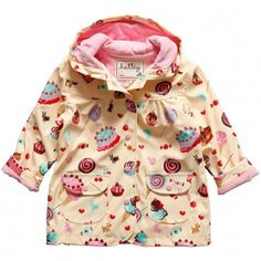 Fun raingear picks for April showers by Nancy Horn on @babycenter. Hatley Ice Cream Girls Raincoat - $52.99. Their raincoats are 100% PVC-free. The shell is polyeurethane and the lining is made of cotton and polyester. #raincoats #raingear