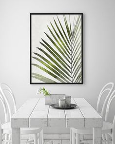Tropical Leaf Print, Plant Print, Wall Art Decor, Jungle Leaf, Green Leaves…