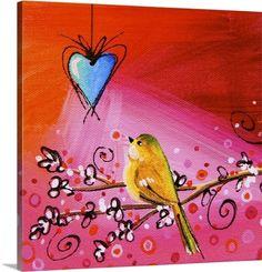 Cindy Thornton Premium Thick-Wrap Canvas Wall Art Print entitled Song Bird IX, None