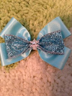 Elsa Inspired Disney bow on Etsy, $8.00