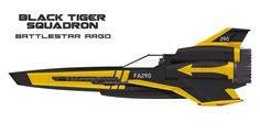 Battlestar Galactica / Starblazers crossover - The Black Tigers Viper Squadron of Battlestar Argo (Space Battleship Yamato, BSG)