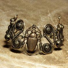 steampunk art | Steampunk Bracelet Scarab by *CatherinetteRings on deviantART