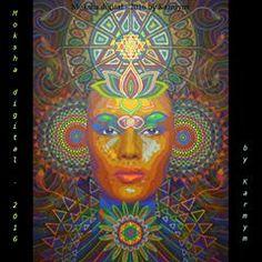 Moksha digital - digitally mastered version of acrylic painting 'Moksha - by world is full of Buddhas but they're sleeping. Meditation Art, Yoga Art, Chakra Painting, Mindfulness Art, Art Visionnaire, Psy Art, Visionary Art, Tantra, Psychedelic Art