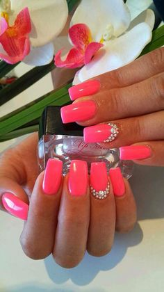 Fuxia with diamonds
