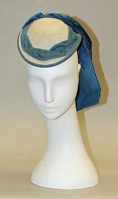 Promenade hat (image 1) | French | 1865-1870 | wool, silk | Metropolitan Museum of Art | Accession #: C.I.57.21.1
