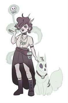 theartofem:  Here's my diddly for WITCHSONA week. My witchsona derives her powers from green tea matcha powder and her magic smells and tast...