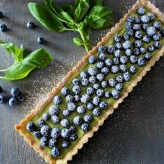 Blueberry Basil Tart. Clean taste of basil coupled with the sweetness of blueberries