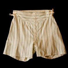 1930s Depression Era Blue & White Boy's Boxer Shorts - Size 8 | 10