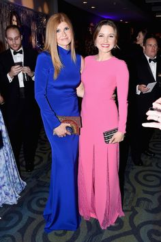 Actresses Connie Britton (L) and Sophia Bush were quite the colorful pair as they attended the Yahoo News/ABC News White House Correspondents' Dinner Pre-Party ahead of the big dinner.