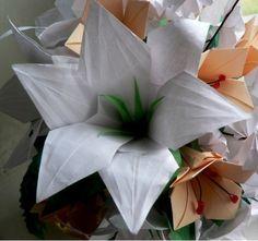 Origami liliom termelése bemutató